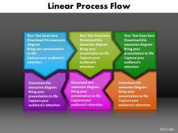 linear process flow editable powerpoint templates