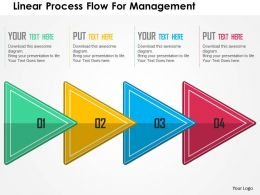 Linear Process Flow For Management Flat Powerpoint Design