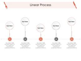 Linear Process Hotel Management Industry Ppt Infographics