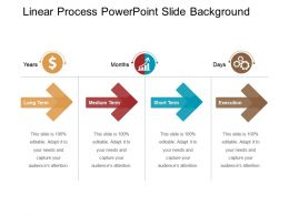 Linear Process Powerpoint Slide Background