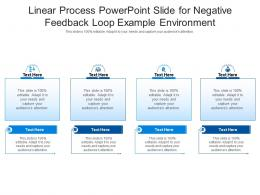 Linear Process Powerpoint Slide For Negative Feedback Loop Example Environment Infographic Template
