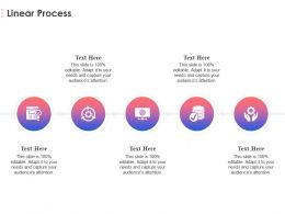 Linear Process Ppt Powerpoint Presentation Professional Example