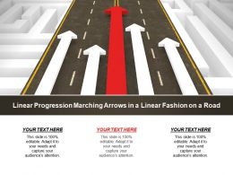 Linear Progression Marching Arrows In A Linear Fashion On A Road