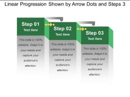 Linear Progression Shown By Arrow Dots And Steps 3