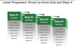 Linear Progression Shown By Arrow Dots And Steps 4