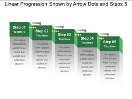 Linear Progression Shown By Arrow Dots And Steps 5