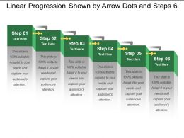 Linear Progression Shown By Arrow Dots And Steps 6