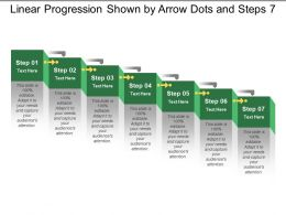 Linear Progression Shown By Arrow Dots And Steps 7