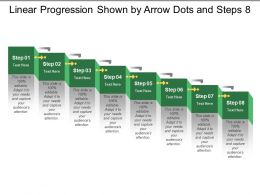Linear Progression Shown By Arrow Dots And Steps 8