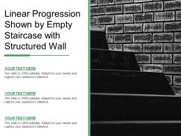 Linear Progression Shown By Empty Staircase With Structured Wall