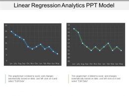 Linear Regression Analytics Ppt Model