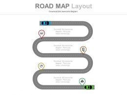 Linear Roadmap For Success Analysis Powerpoint Slides