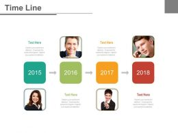 Linear Sequential Timeline For Employee Information Powerpoint Slides