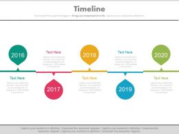 Linear Sequential Timeline For Success Milestones Powerpoint Slides