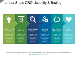 Linear Steps Cro Usability And Testing