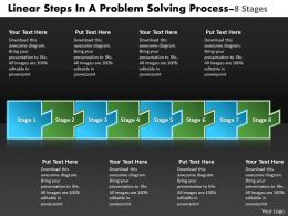 Linear Steps Problem Solving Process 8 Stages Flowchart Examples Powerpoint Templates