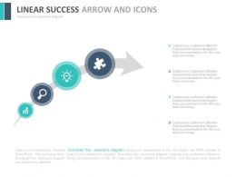 Linear Success Arrow And Icons Flat Powerpoint Design