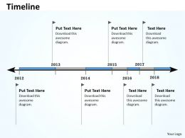 Linear Timeline And Roadmap For Business 0114