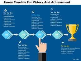 Linear Timeline For Victory And Achievement Flat Powerpoint Design