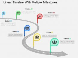 linear_timeline_with_multiple_milestones_flat_powerpoint_design_Slide01