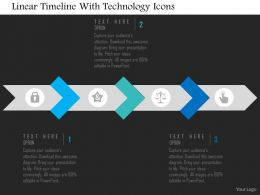 Linear Timeline With Technology Icons Flat Powerpoint Design