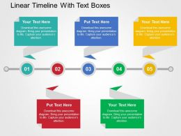Linear Timeline With Text Boxes Flat Powerpoint Design
