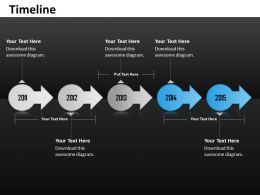 Linear Unique Timeline Roadmap Diagram 0314