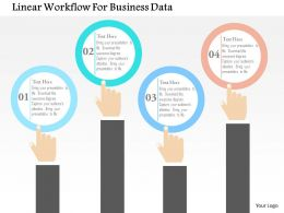 Linear Workflow For Business Data Flat Powerpoint Design