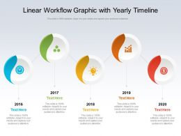 Linear Workflow Graphic With Yearly Timeline