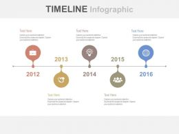 Linear Year Based Timeline for Business Growth Powerpoint Slides