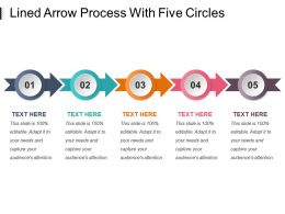 Lined Arrow Process With Five Circles