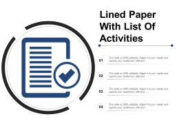 Lined Paper With List Of Activities