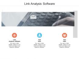 Link Analysis Software Ppt Powerpoint Presentation Professional Tips Cpb