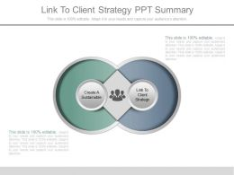 Link To Client Strategy Ppt Summary