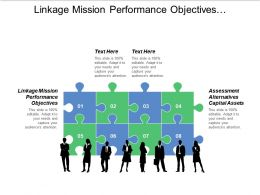Linkage Mission Performance Objectives Assessment Alternatives Capital Assets