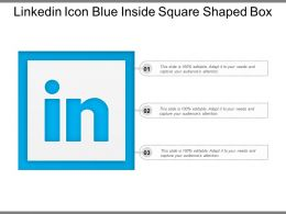 Linkedin Icon Blue Inside Square Shaped Box