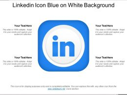 Linkedin Icon Blue On White Background