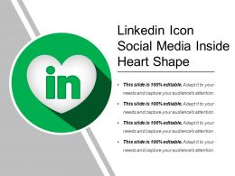 Linkedin Icon Social Media Inside Heart Shape