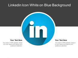 Linkedin Icon White On Blue Background