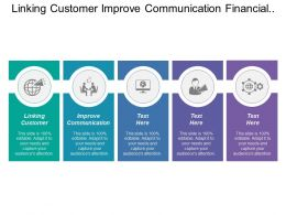 Linking Customer Improve Communication Financial Management Value Chain