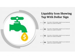 Liquidity Icon Showing Tap With Dollar Sign