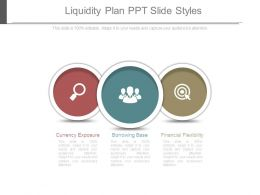 Liquidity Plan Ppt Slide Styles
