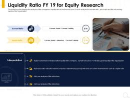 Liquidity Ratio FY 19 For Equity Research Good Growth Ppt Powerpoint Presentation Outline Elements