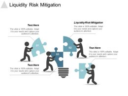 Liquidity Risk Mitigation Ppt Powerpoint Presentation Model Background Cpb