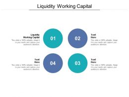 Liquidity Working Capital Ppt Powerpoint Presentation Inspiration Elements Cpb