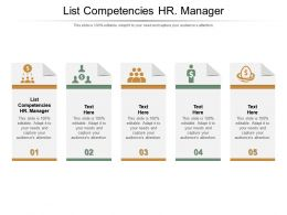 List Competencies Hr Manager Ppt Powerpoint Presentation Icon Backgrounds Cpb