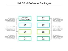List CRM Software Packages Ppt Powerpoint Presentationmodel Brochure Cpb