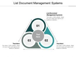 List Document Management Systems Ppt Powerpoint Presentation Slides Graphics Cpb