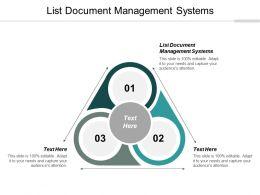 List Document Management Systems Ppt Powerpoint Presentation Slides Graphics Cpb