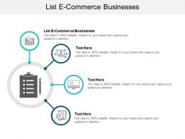 List E Commerce Businesses Ppt Powerpoint Presentation Icon Infographics Cpb
